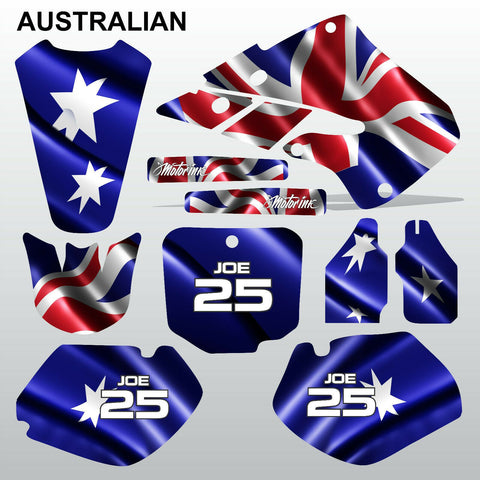 Honda CR125 CR250 1998 1999 AUSTRALIAN motocross decals set MX graphics kit