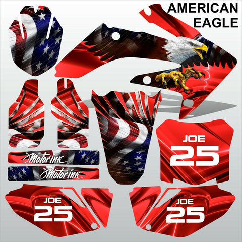 Honda CRF 250 2008-2009 AMERICAN EAGLE racing motocross decals set MX graphics