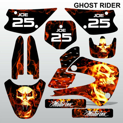 Kawasaki KX 85-100 2001-2012 GHOST RIDER motocross decals set MX graphics kit