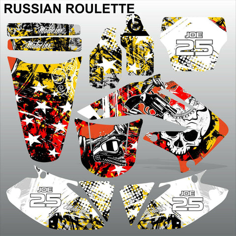 Honda CRF 450 2002-2004 RUSSIAN ROULETTE race motocross decals set MX graphics