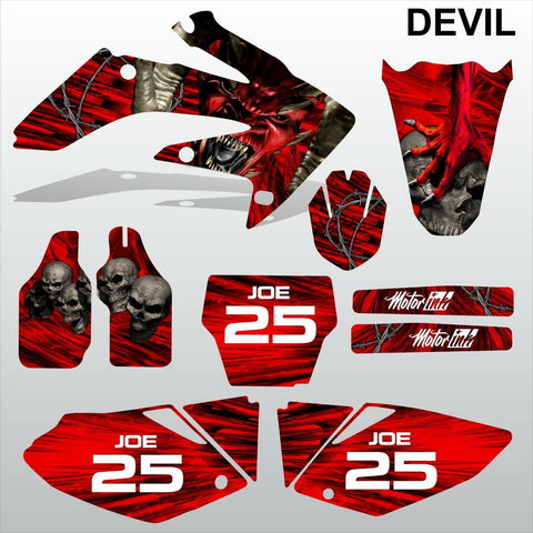 Honda CRF 250 2004-2005 DEVIL PUNISHER SKULL motocross decals MX graphics kit
