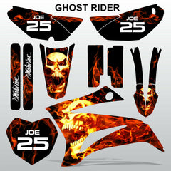 Yamaha TTR 125 2008-2019 GHOST RIDER motocross racing decals set MX graphics