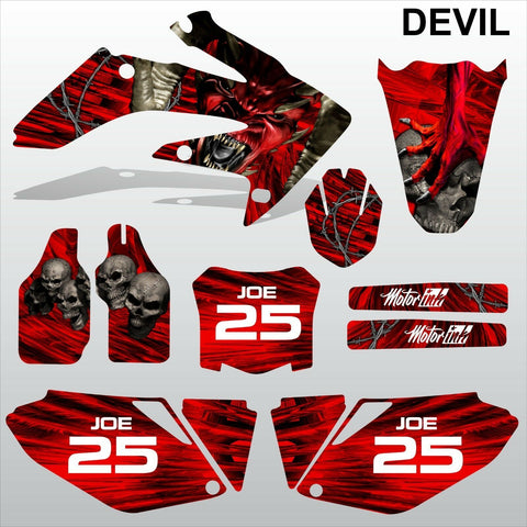 Honda CRF 250 2008-2009 DEVIL PUNISHER  SKULL motocross decals MX graphics kit