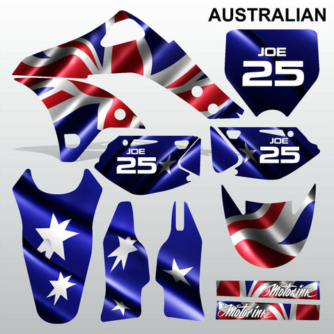 Kawasaki KXF 250 2006-2008 AUSTRALIAN motocross decals set MX graphics kit