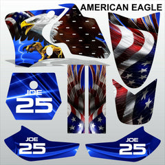 Yamaha TTR 90 1999-2007 AMERICAN EAGLE motocross racing decals set MX graphics