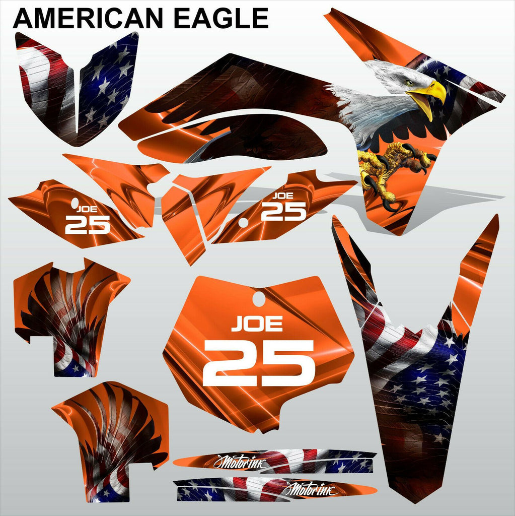 KTM SX 2011 2012 AMERICAN EAGLE motocross racing decals stripes set MX graphics