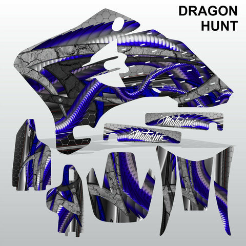 Yamaha WR 250F 450F 2005-2006 DRAGON HUNT motocross decals set MX graphics kit