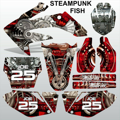 Honda CRF 250 2006-2007 STEAMPUNK FISH racing motocross decals set MX graphics