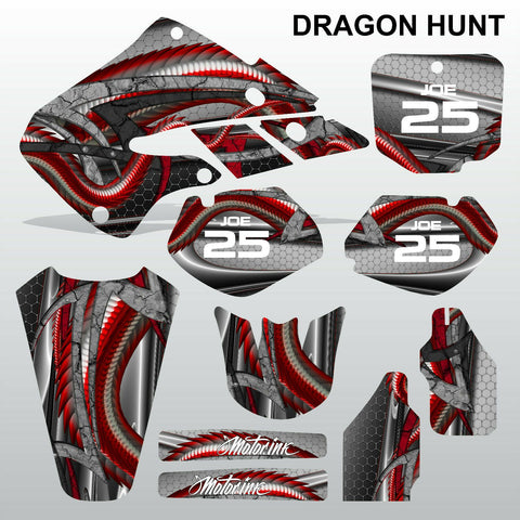 Honda CR125 CR250 1998 1999 DRAGON HUNT motocross decals set MX graphics kit