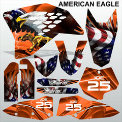 KTM SX 2007-2010 AMERICAN EAGLE motocross decals racing stripes set MX graphics
