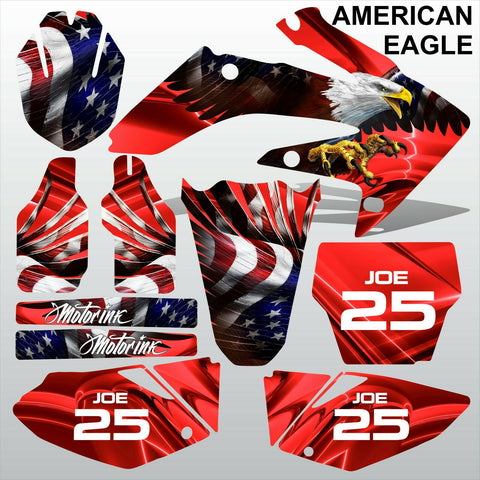 Honda CRF 250 2004-2005 AMERICAN EAGLE motocross racing decals set MX graphics