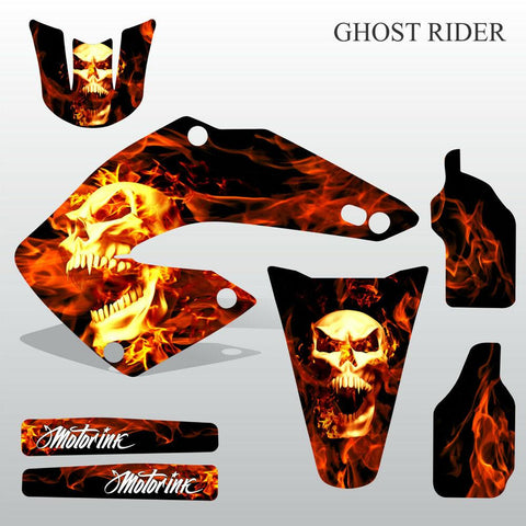 Honda CR125 CR250 00-01 GHOST RIDER motocross decals set MX graphics kit
