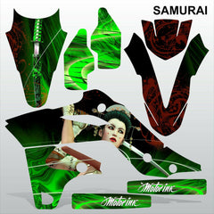 Kawasaki KXF250 2013-2016 SAMURAI motocross racing decals set MX graphics kit