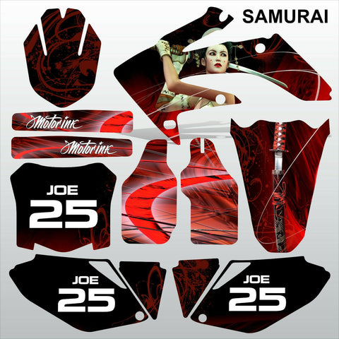 Honda CRF 250 2008-2009 SAMURAI racing motocross decals set MX graphics kit