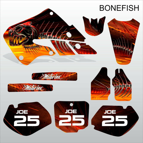 Honda CR125 CR250 1998-1999 BONEFISH motocross decals set MX graphics kit