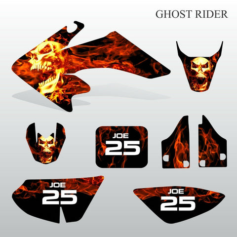 Honda CRF 50 2004-2016 GHOST RIDER motocross decals set MX graphics kit