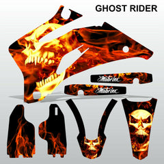 Yamaha WR 450F 2007-2013 GHOST RIDER motocross race decals set MX graphics kit