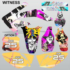 Honda CRF 450X 2005-2016 WITNESS motocross racing decals set MX graphics kit