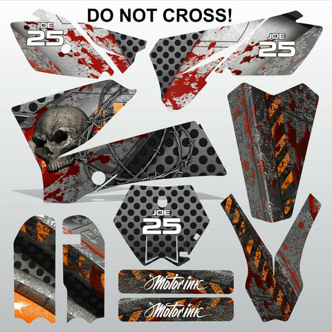 KTM SX 85-105 2006-2012 DO NOT CROSS motocross racing  decals set MX graphics