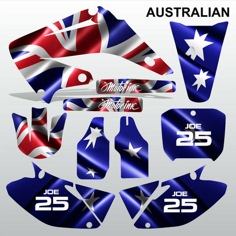 Honda CR125 CR250 2002-2007 AUSTRALIAN motocross decals set MX graphics kit