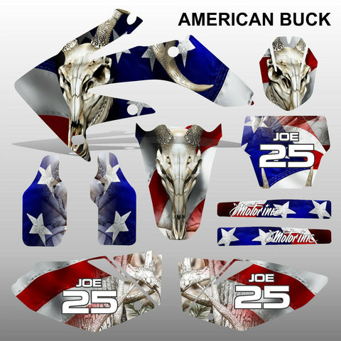 Honda CRF 250 2004-2005 AMERICAN BUCK motocross decals MX graphics kit
