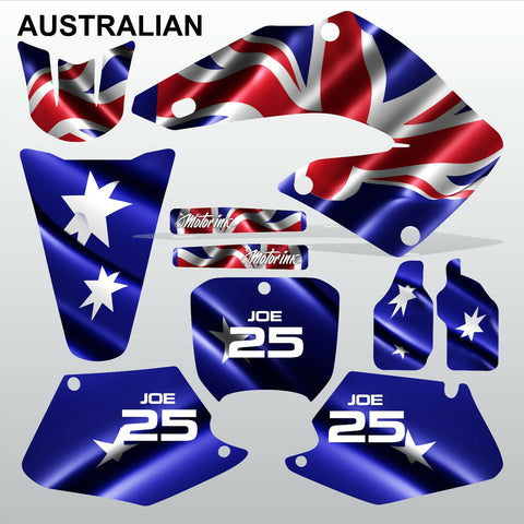 Honda CR125 CR250 2000 2001 AUSTRALIAN motocross decals set MX graphics kit