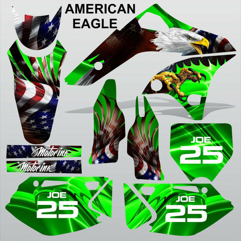 Kawasaki KXF 250 2006-2008 AMERICAN EAGLE motocross racing decals MX graphics