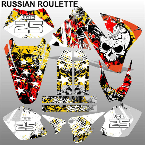 KTM EXC 2001-2002 RUSSIAN ROULETTE motocross decals  stripes set MX graphics kit