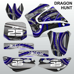 Yamaha TTR125 2000-2007 DRAGON HUNT motocross racing decals set MX graphics