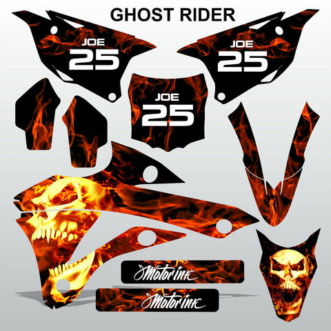 Kawasaki KX 85-100 2014-2015 GHOST RIDER motocross decals set MX graphics kit