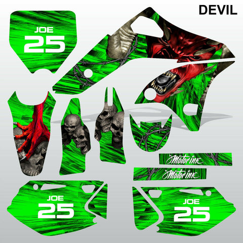 Kawasaki KXF 250 2006-2008 DEVIL PUNISHER motocross decals set MX graphics kit