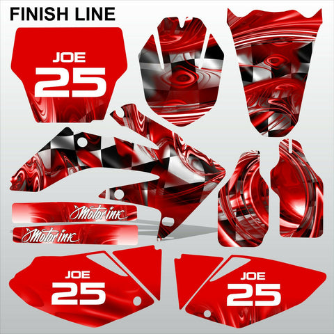 Honda CRF 250 2004-2005 FINISH LINE motocross decals MX graphics kit