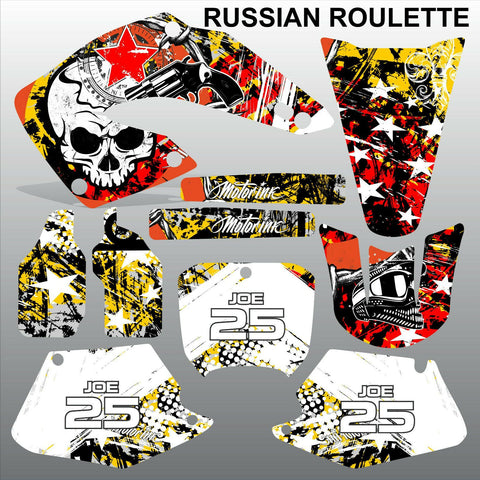 Honda CR125 CR250 2000 2001 RUSSIAN ROULLETE  motocross decals set MX graphics
