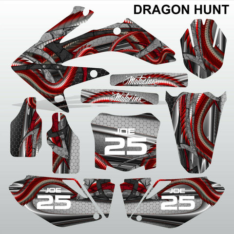 Honda CRF 250 2008-2009 DRAGON HUNT motocross decals MX graphics kit