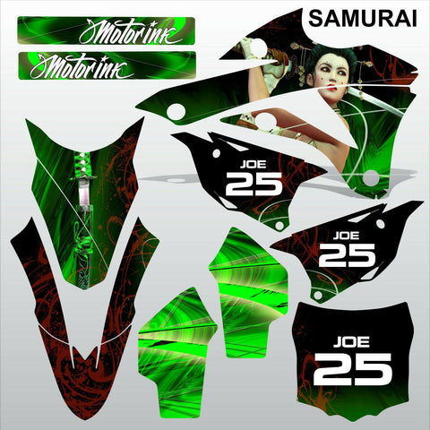 Kawasaki KX 85-100 2014-2015 SAMURAI motocross racing decals set MX graphics kit