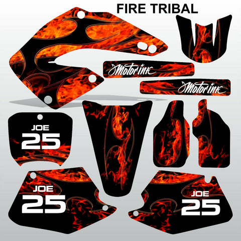 Honda CR125 CR250 2000 2001 FIRE TRIBAL  motocross decals set MX graphics kit
