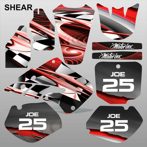 Honda CR125 CR250 1998 1999 SHEAR motocross racing decals set MX graphics kit