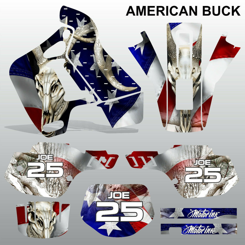 Kawasaki KDX 200 1991-1994 AMERICAN BUCK motocross decals set MX graphics