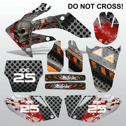 Honda CRF 250 2006-2007 DO NOT CROSS motocross decals MX graphics kit