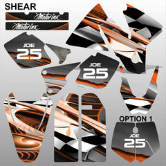 KTM EXC 1998-2000 SHEAR motocross racing decals set MX graphics stripe kit