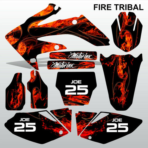 Honda CRF 250 2004-2005 FIRE TRIBAL motocross decals MX graphics kit