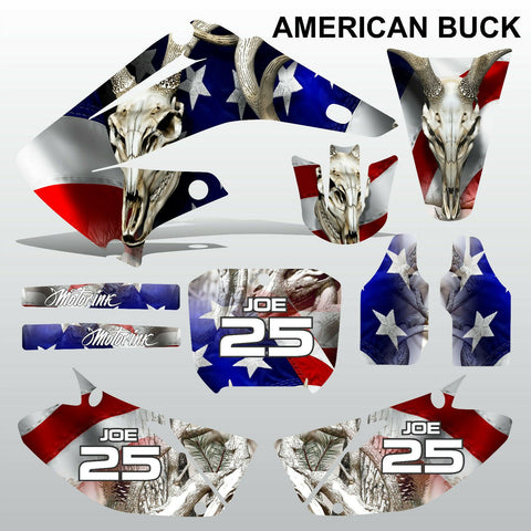 Honda CR125 CR250 2002-2007 AMERICAN BUCK motocross decals set MX graphics kit