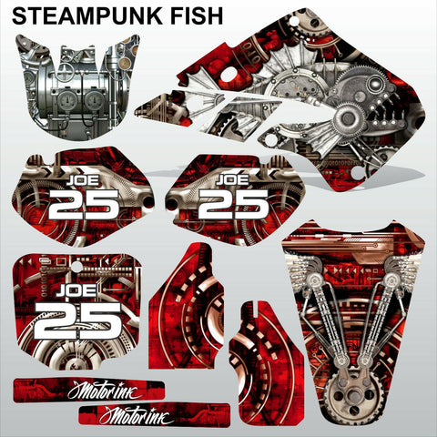 Honda CR125 CR250 1998 1999 STEAMPUNK FISH motocross racing decals MX graphics