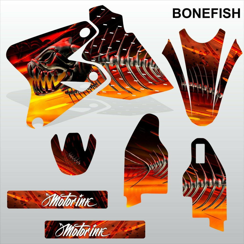 SUZUKI DRZ 400 2002-2012 BONEFISH motocross racing decals set MX graphics kit