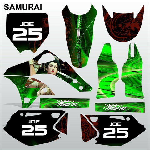Kawasaki KXF 250 2006-2008 SAMURAI motocross racing decals set MX graphics kit
