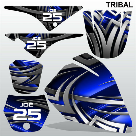 Yamaha PW80 TRIBAL motocross racing decals set MX graphics stripe kit
