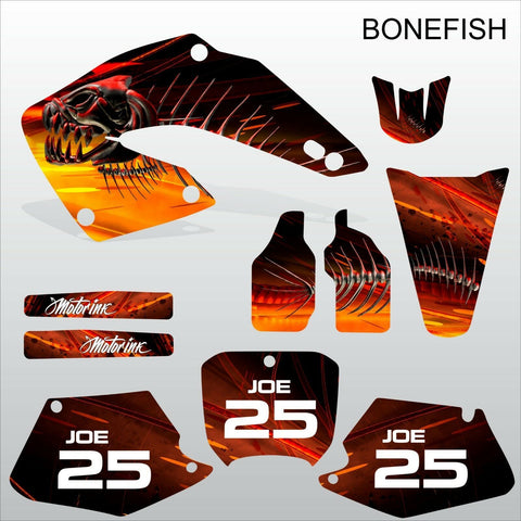 Honda CR125 CR250 2000 2001 BONEFISH motocross decals set MX graphics kit