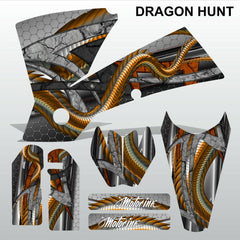 KTM EXC 2004 DRAGON HUNT motocross decals racing stripes set MX graphics kit