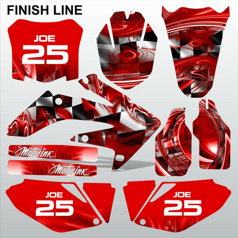 Honda CRF 250 2008-2009 FINISH LINE racing motocross decals MX graphics kit