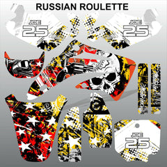 Honda CR85 2003-2012 RUSSIAN ROULLETE race motocross decals set MX graphics kit